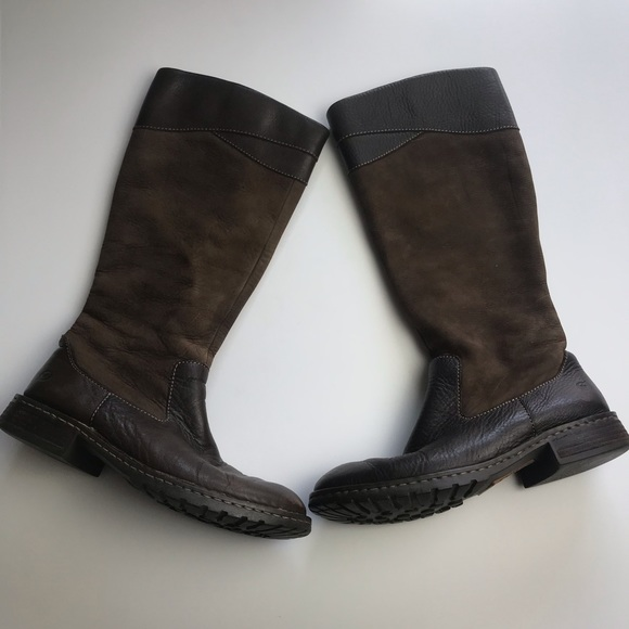 Born Shoes - BORN Brown Leather Winter Boots Size 8
